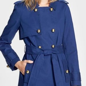 Gorgeous! Kate Spade Stergis Navy Trench Coat NWT